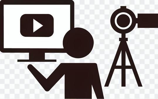 在線業務/視頻分發/圖標