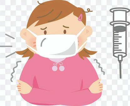 一个感冒的女孩