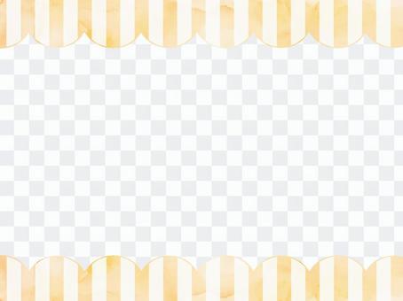 水彩條紋框架2橙色
