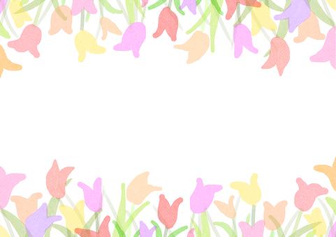 春色鬱金香花框材料②