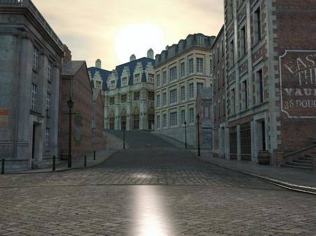 Landscape of old London streets (dawn)