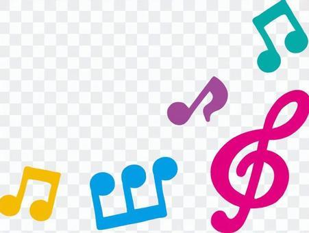 カラフル音符フレーム4