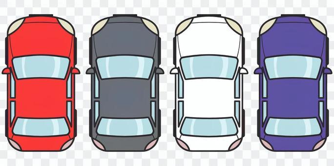 汽車的鳥瞰圖
