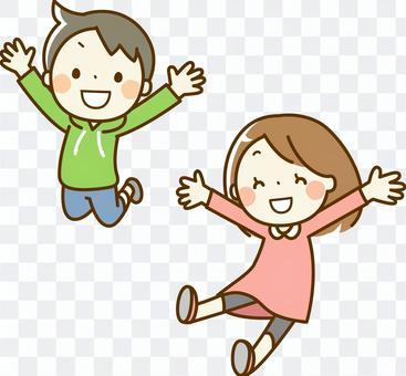 Jumping children (long sleeves)