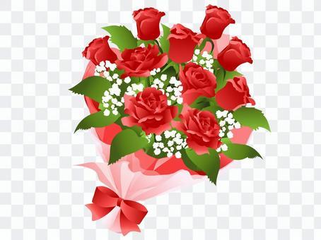 一束红色的花束