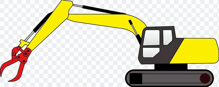 液壓挖掘機前叉重型建築設備