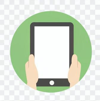 手 - 平板電腦(豎屏)