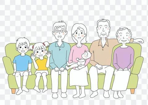 中吉家族_7個人_簡單手繪