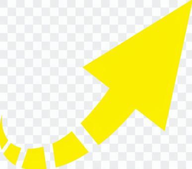 箭頭右對角向上___黃色