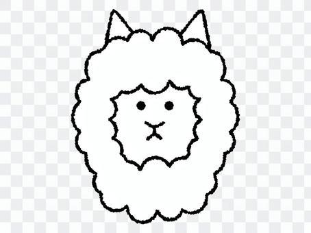 手寫的羊駝圖標