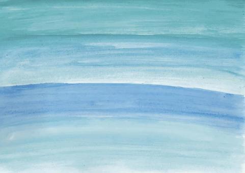 水彩 水色 海 背景