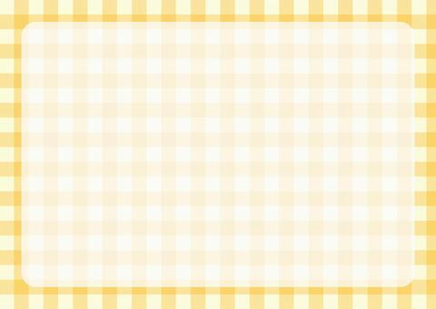 格子呢檢查框架黃色