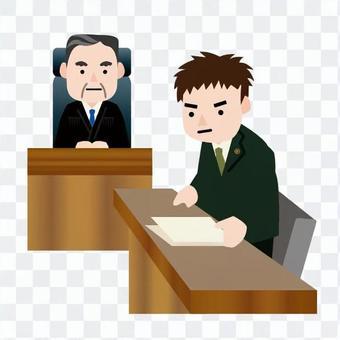 男性法官和男性律師