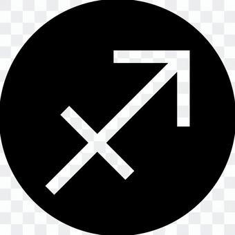 Sagittarius circle icon