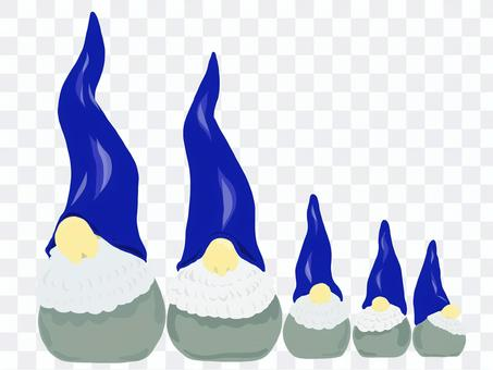 北歐聖誕老人Matryoshka藍色