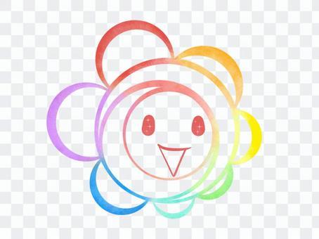 彩虹色轉過來