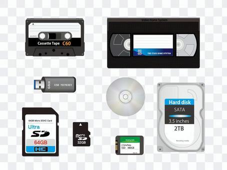 USB SD HDD CD記錄媒體