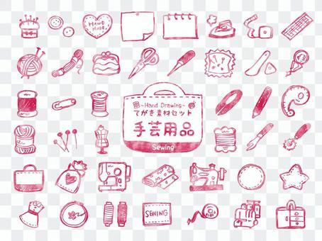 手工套裝,例如手工藝品和針織品