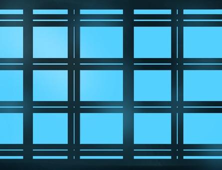 Lattice window (blue sky)