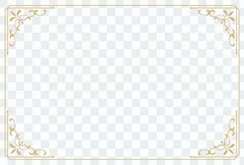Classic decorative ruling 3 postcard size
