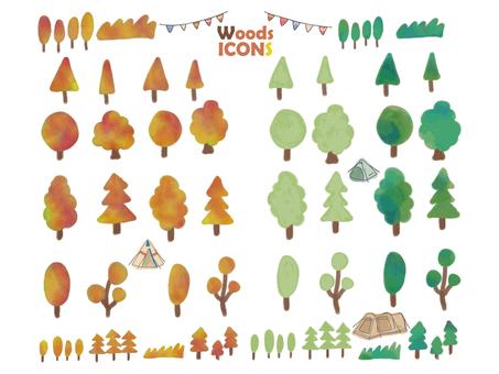 秋天的樹木