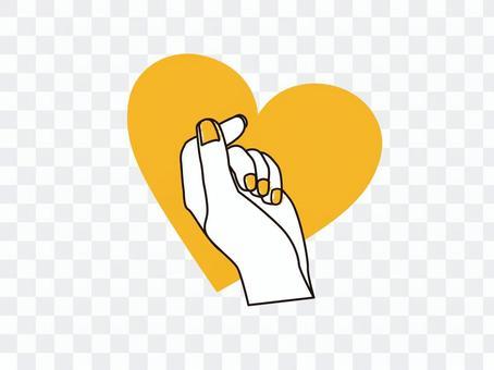 手指心形_黃色