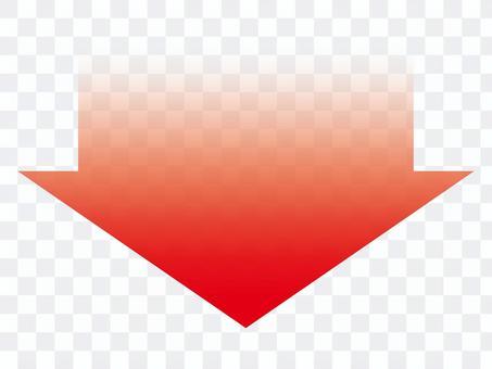 紅色漸變向下箭頭