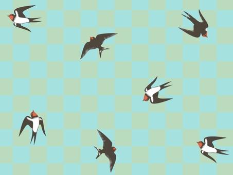 復古的燕子