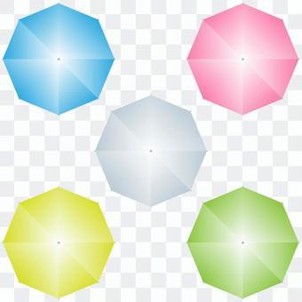 從上面看到的傘