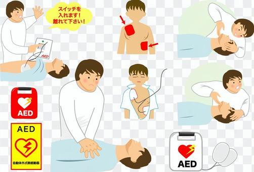 心臟按摩,AED,緊急醫療護理