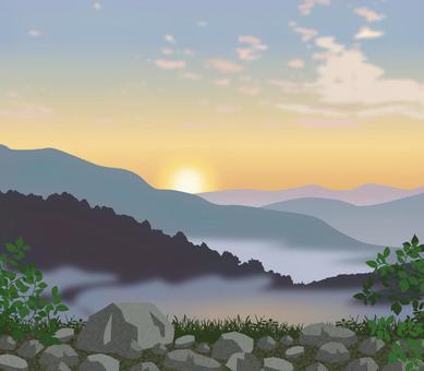 自然風光日出插圖