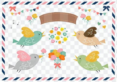 鸟和花材料2