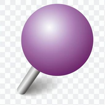 Push pin purple