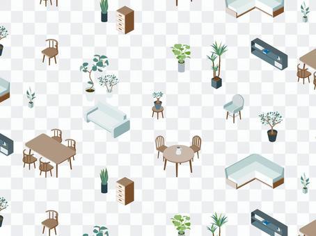 Isometric_Furniture_Pattern_Background