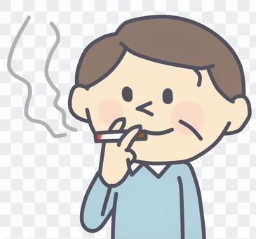 抽著煙的男人