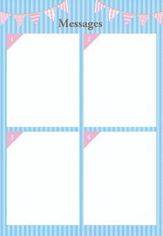 易於使用的A4背景淡藍色