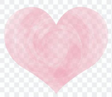 手写的水彩粉红色的心图标符号图片