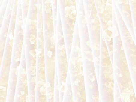 Off-white glitter fabric drape