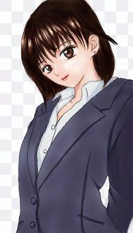 高中女生(沒有領帶,胸圍)