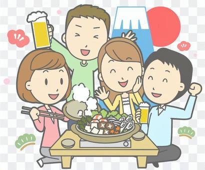 新年派對 - 朋友聚會
