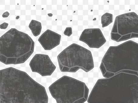Collapsed rock image illustration