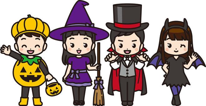 Children in Halloween costumes 2