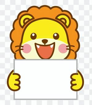 紙板手提獅子