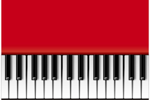 Red piano (horizontal)