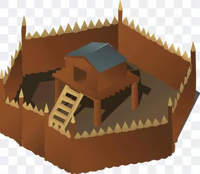 要塞   砦   城門   城壁   門