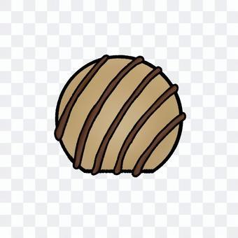 球形摩卡巧克力(帶輪廓)
