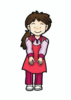 A nursing staff woman