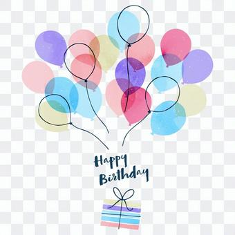 Balloon illustrations that can be used on birthdays, etc.