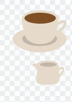 咖啡和牛奶(茶)
