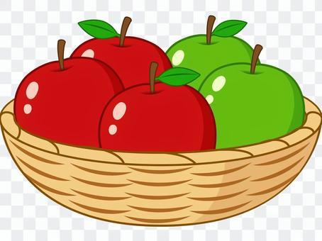 裝滿籃子的蘋果